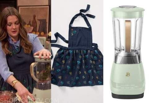 drew barrymore, drew barrymore show, blue apron, green blender