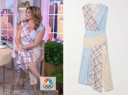 the today show, jenna bush hager, patchwork midi dress