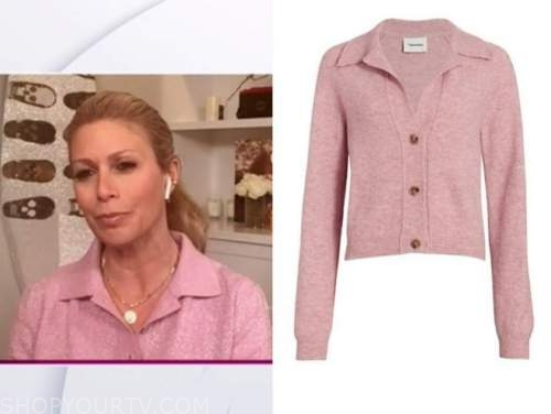 jill martin, the today show, pink cardigan sweater top
