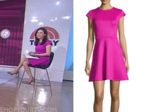 the today show, vicky nguyen, magenta pink dress