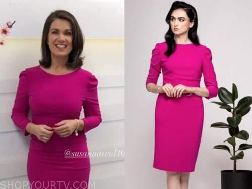 susanna reid, good morning britain, pink pencil dress
