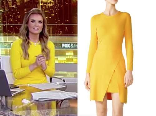 jillian mele, fox and friends, yellow knit dress