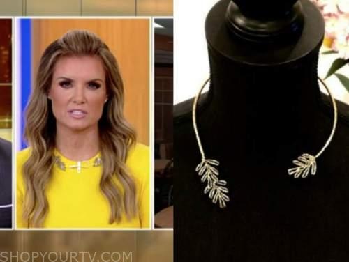 jillian mele, fox and friends, gold leaf collar necklace