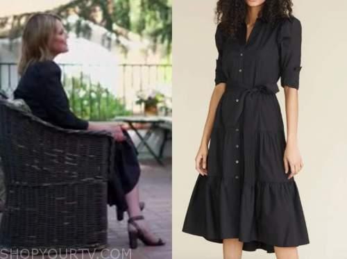savannah guthrie, the today show, black midi shirt dress