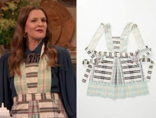 drew barrymore show, drew barrymore, green apron