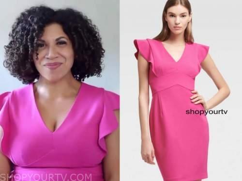 damona hoffman, drew barrymore show, pink dress