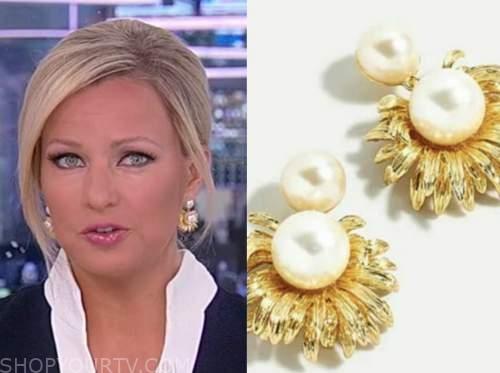 sandra smith, pearl earrings, america reports