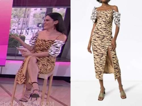 the today show, hoda and jenna, tiger print midi dress