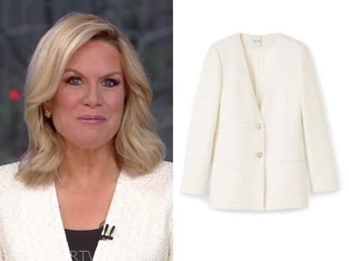 martha maccallum, the story, ivory tweed jacket