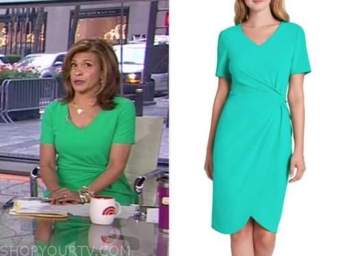 the today show, hoda kotb, green dress