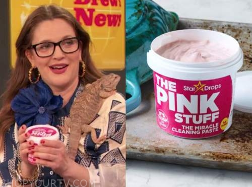 drew barrymore, drew barrymore show, the pink stuff cleaner