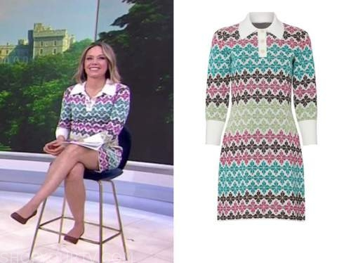dylan dreyer, the today show, floral knit dress
