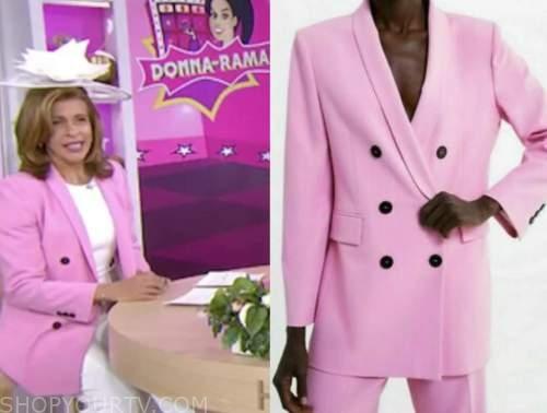 hoda kotb, the today show, pink double breasted blazer