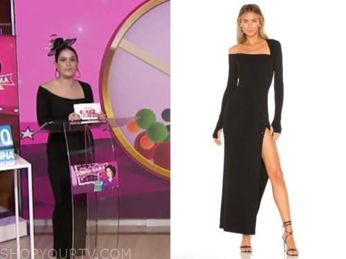 the today show, hoda and jenna, donna farizan, black knit asymmetric dress