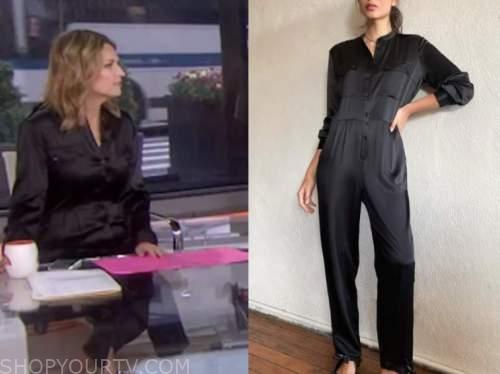 savannah guthrie, black jumpsuit, the today show