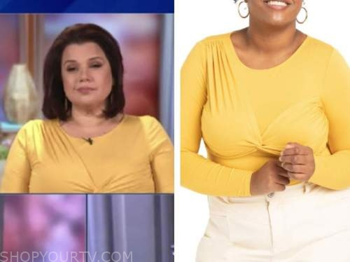 ana navarro, E! news, daily pop, yellow twist top