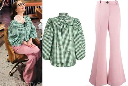 drew barrymore, drew barrymore show, oprah winfrey, green gingham top, pink pants