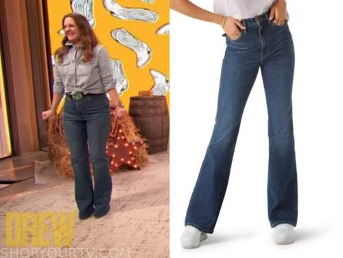 drew barrymore, drew barrymore show, boot cut jeans