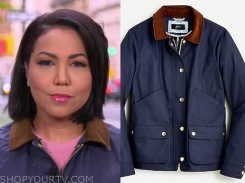 stephanie ramos, good morning america, navy blue jacket