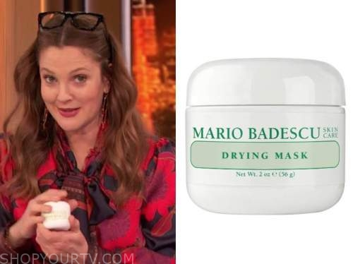 drew barrymore, drew barrymore show, drying mask
