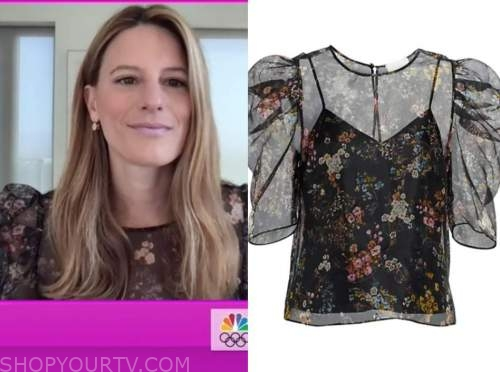 brook jaffe, the today show, black floral top