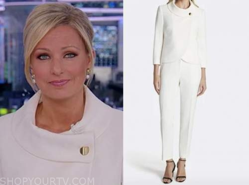 sandra smith, america reports, white pant suit