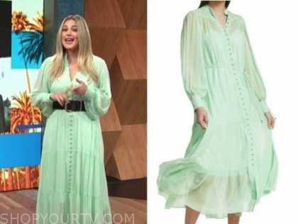 carissa culiner, E! news, daily pop, mint green midi dress