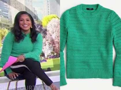sheinelle jones, the today show, green sweater