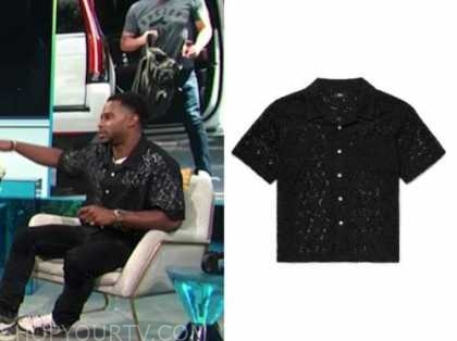 victor cruz, black lace polo shirt, E! news, daily pop