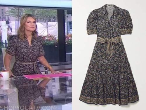 savannah guthrie, paisley dress, the today show