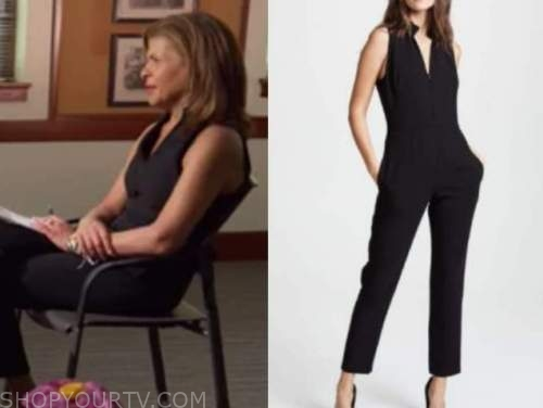 the today show, hoda kotb, black jumpsuit