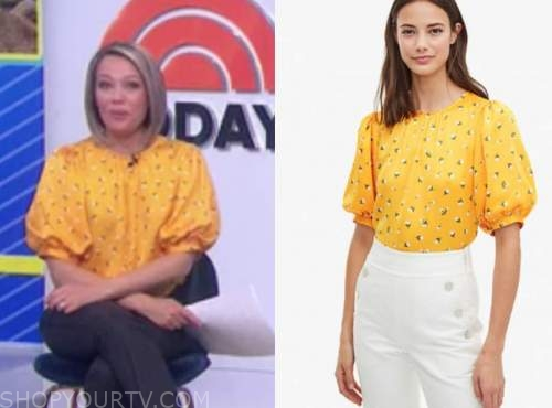 dylan dreyer, the today show, yellow floral top