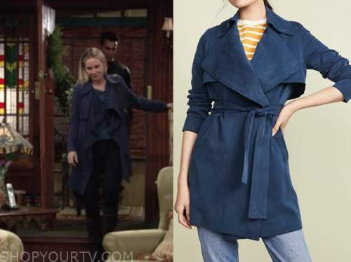 sharon newman, sharon case, blue trench coat, the young and the restless
