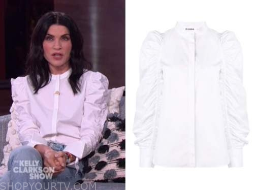 Julianna Margulies, white shirt, the kelly clarkson show