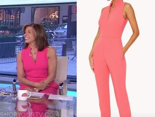 the today show, hoda kotb, pink jumpsuit