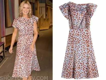 good morning britain, charlotte hawkins, leopard dress