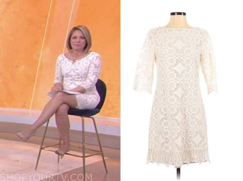 the today show, ivory lace dress, dylan dreyer