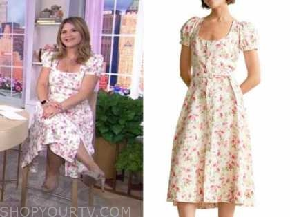 jenna bush hager, the today show, floral midi dress