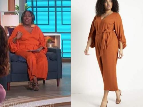 sheryl underwood, the talk, orange jumpsuit