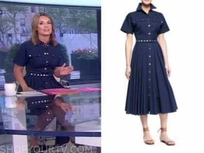 savannah guthrie, the today show, denim blue shirt dress
