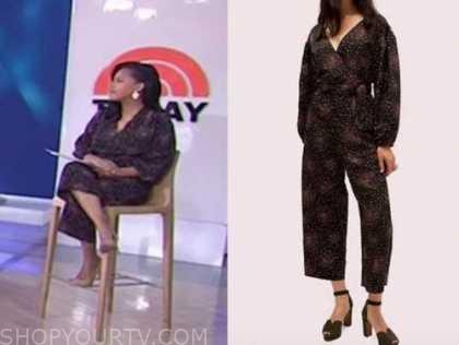 sheinelle jones, the today show, dot jumpsuit