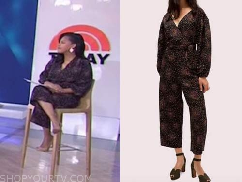 sheinelle jones, the today show, dot jumpsuit