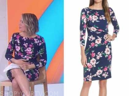 dylan dreyer, the today show, blue and pink floral dress