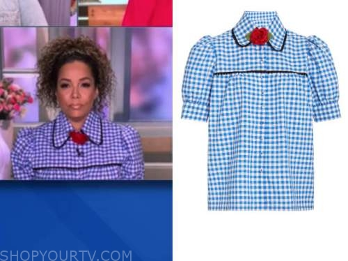 sunny hostin, blue gingham top, the view