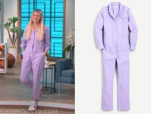 amanda kloots, the talk, purple jumpsuit