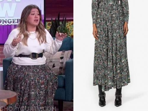 kelly clarkson, the kelly clarkson show, floral maxi skirt