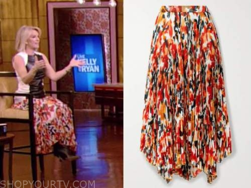 live with kelly and ryan, good morning america, dr. jennifer ashton, orange pleated skirt