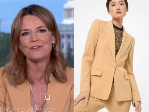 savannah guthrie, the today show, beige blazer