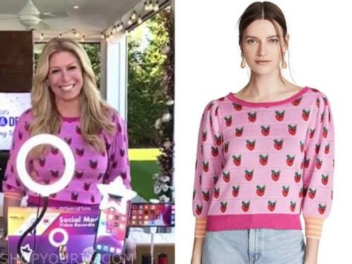 jill martin, the today show, pink strawberry sweater
