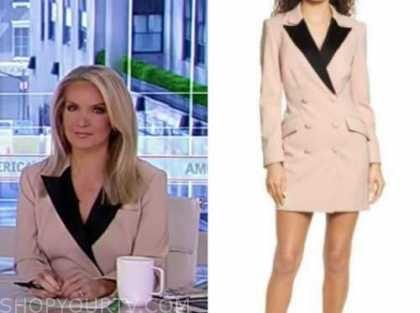 america's newsroom, dana perino, beige and black blazer dress